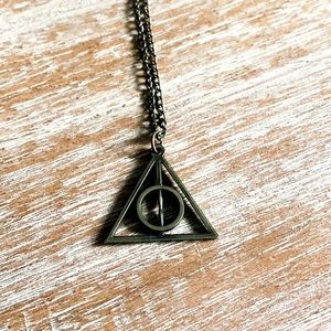 Deathly Hallows in Bronze Necklace
